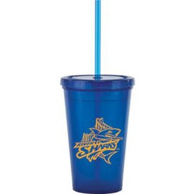 Bolero Tumblers with Straw (16 Oz.)