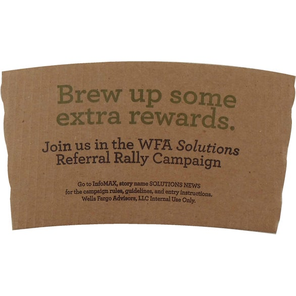 Brown Kraft Coffee Clutch Insulated Beverage Wrap