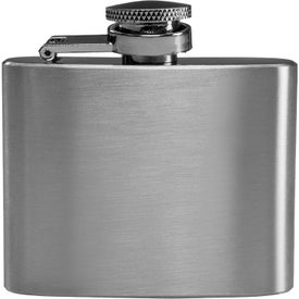 Brushed Finish Stainless Steel Flask (2 Oz.)
