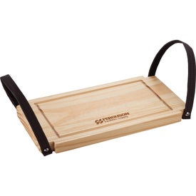Bullware Wood Serving Tray and Cutting Board