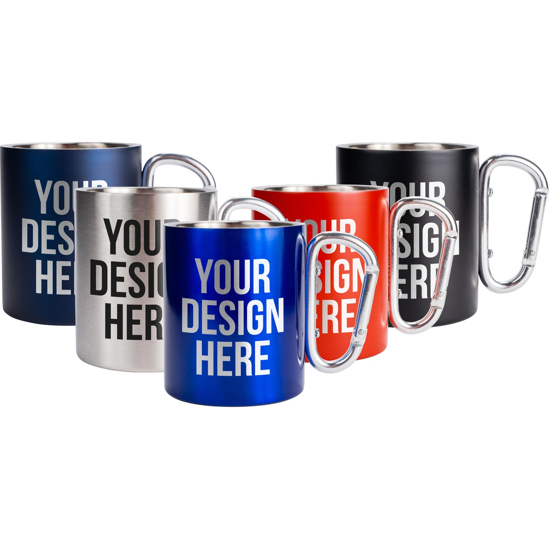 Carabiner Handle Stainless Steel Mug (10 Oz.)