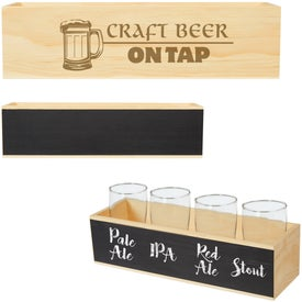 Chalkboard Beer Flight Crate