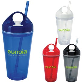 Circle Lid Acrylic Tumbler Branded with Your Logo