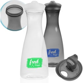 Clear Plastic Carafe with Lid (34 Oz.)