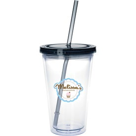Company Clear Tumbler with Colored Lid