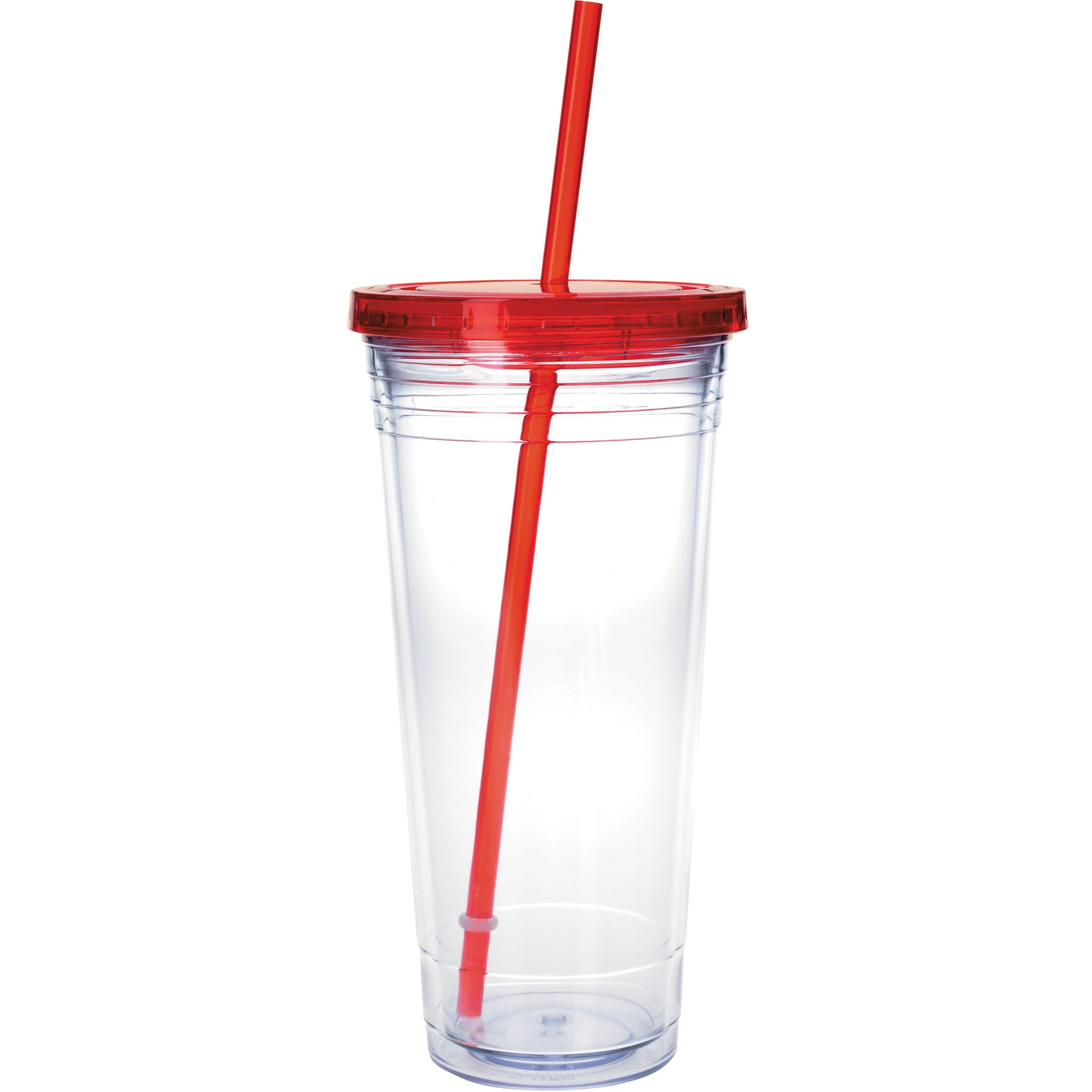 Promotional 24 Oz Clear Tumbler with Colored Lids with Custom Logo