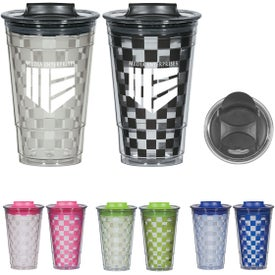 Color Changing Checker Tumbler (16 Oz.)