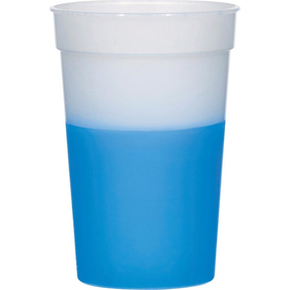 Frosted to Blue Color Changing Stadium Cup