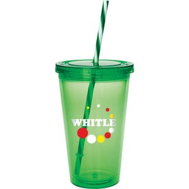 Colored Candy Cane Tumbler for Advertising
