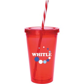 Colored Candy Cane Tumbler Imprinted with Your Logo