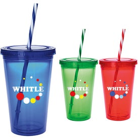 Colored Candy Cane Tumbler (18 Oz.)