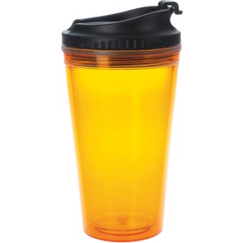 Logo Colored Tumbler with Black Lid