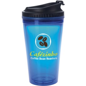Colored Tumbler with Black Lid Printed with Your Logo