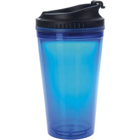 Colored Tumbler with Black Lid with Your Logo