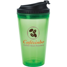 Colored Tumbler with Black Lid Branded with Your Logo