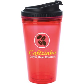 Colored Tumbler with Black Lid for your School