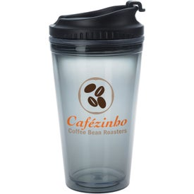 Colored Tumbler with Black Lid Imprinted with Your Logo