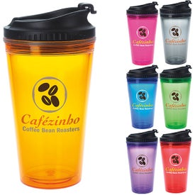 Colored Tumbler with Black Lid (18 Oz.)