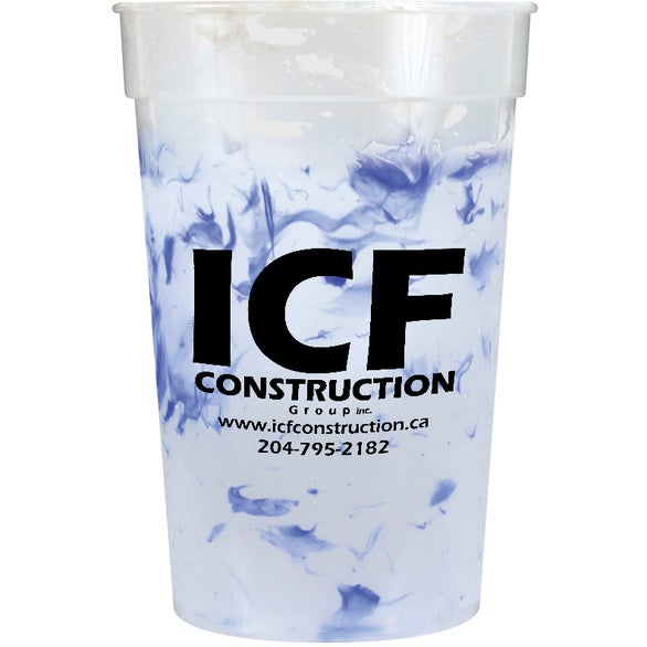 Frosted to Blue Confetti Mood Stadium Cup