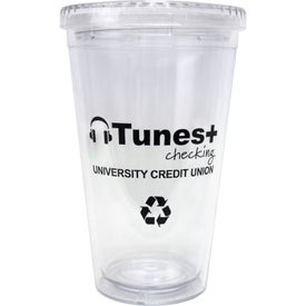 Cool Clear Acrylic Tumbler with Color Straws Giveaways