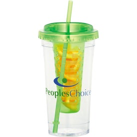 Cool Gear Sedici Fruit Infuser Tumbler with Your Slogan