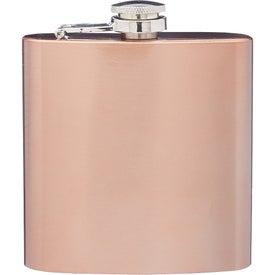Copper Coated Hip Flask (6 Oz.)