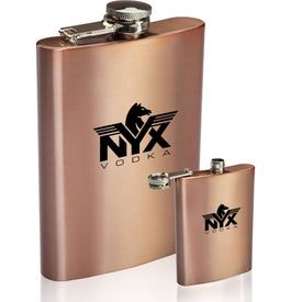 Copper Coated Hip Flask (8 Oz.)