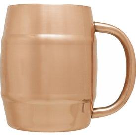 Copper Coated Moscow Mule Barrel Mug (14 Oz.)