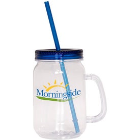 Imprinted Country Mason Jar Sipper