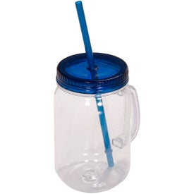 Country Mason Jar Sipper Branded with Your Logo