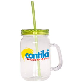 Promotional Country Mason Jar Sipper