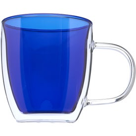 Crystallite Double Wall Glass Coffee Mug (10 Oz.)