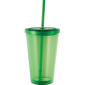Monogrammed Cyclone Tumbler with Straw