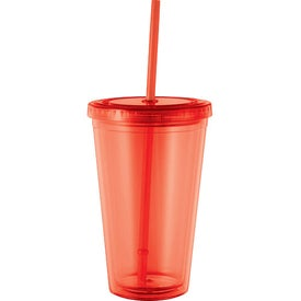 Personalized Cyclone Tumbler with Straw