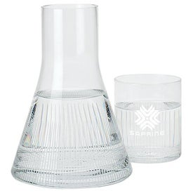 Decanter and Drinking Glass Printed with Your Logo