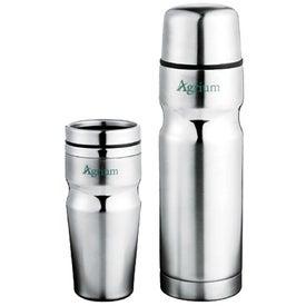 Logo Deco Band Insulated Bottle & Tumbler Gift Set