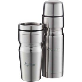 Deco Band Insulated Bottle & Tumbler Gift Set for Your Company