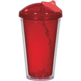 Diamond Double Wall Tumbler with Straw with Your Logo