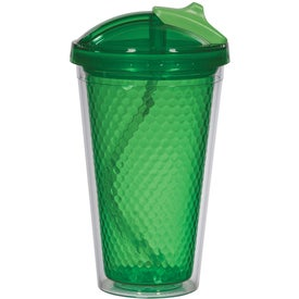 Diamond Double Wall Tumbler with Straw for Your Company