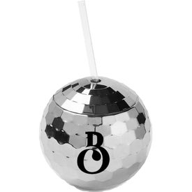 Disco Ball Tumbler with Straw