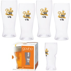 Dishwasher Safe Govino Beer Glass 4 Pack (16 Oz.)