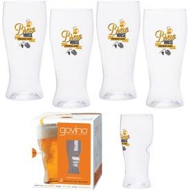 Dishwasher Safe Govino Beer Glass 4 Pack (16 Oz.)