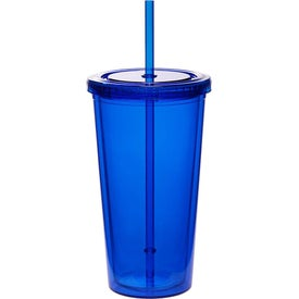 Double Wall Acrylic Tumbler with Straw (20 Oz.)