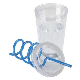 Double Wall AS Tumbler with Straw for Marketing