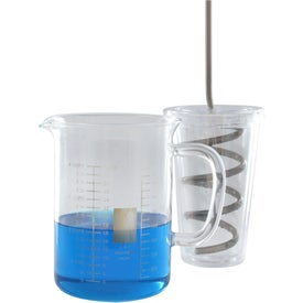Double Wall AS Tumbler with Straw Branded with Your Logo