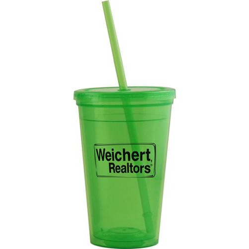 Double Wall Insulated Tumbler with Lid (16 Oz.)