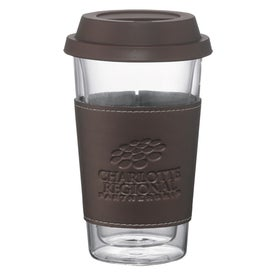 Imprinted Double Wall Glass Tumbler with Wrap
