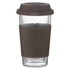Double Wall Glass Tumbler with Wrap for Your Company
