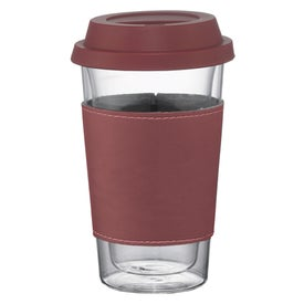 Double Wall Glass Tumbler with Wrap for Marketing