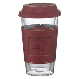 Printed Double Wall Glass Tumbler with Wrap
